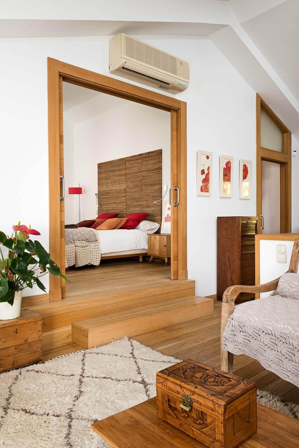 Interior design in wood