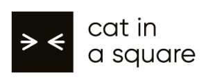 Logo cat in a square