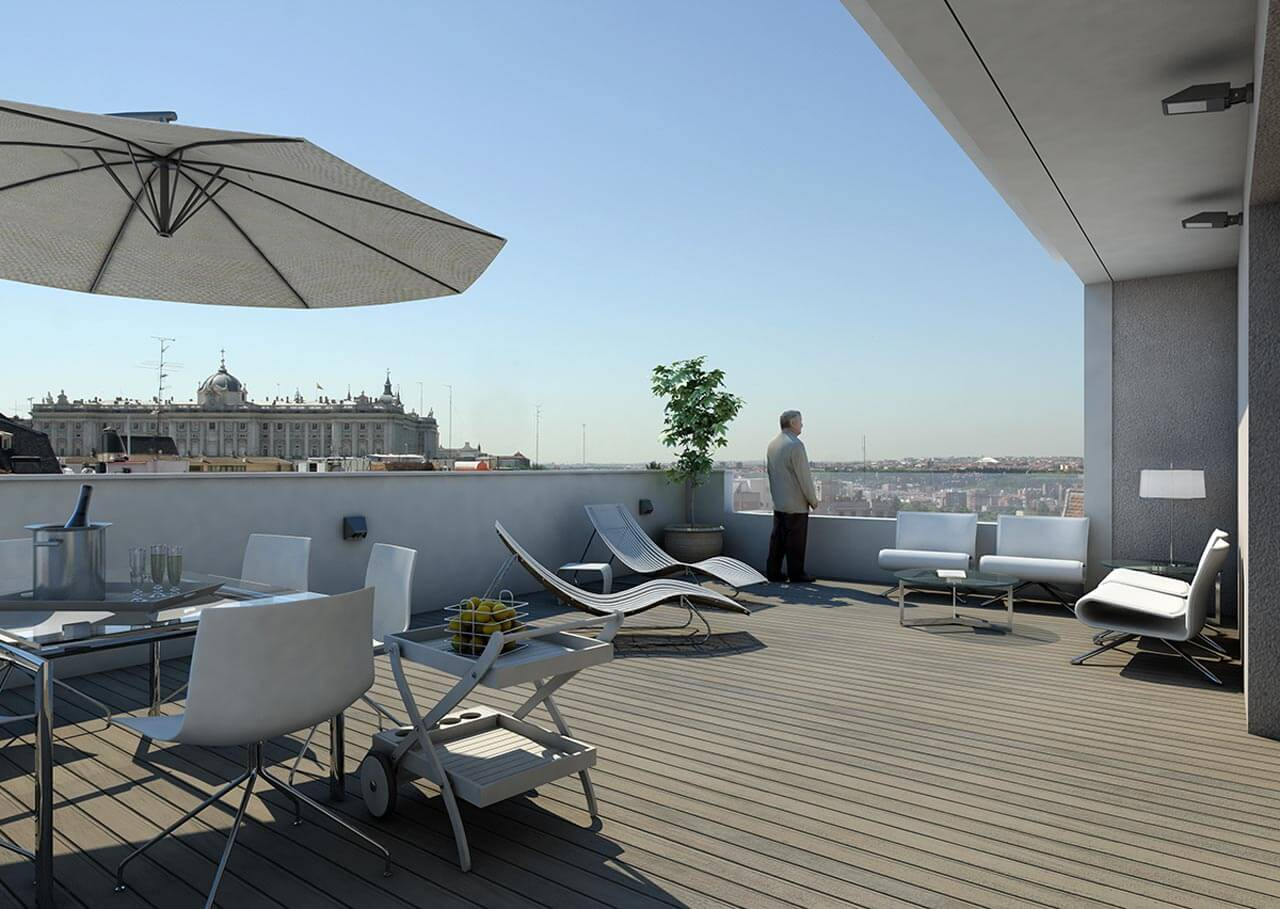 Terrace design in Madrid